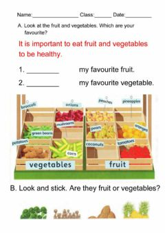 Interactive worksheet Fruit and vegetable