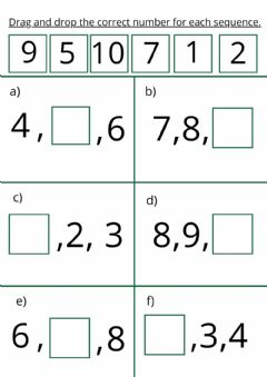 Ficha interactiva 4 Years: Math Set 8 Page 2 Drag and Drop