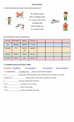 Interactive worksheet Going To Review