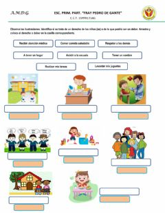 Interactive worksheet Derechos y deberes