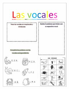 Interactive worksheet Las vocaled