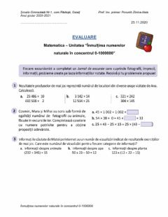 Interactive worksheet Înmulțirea numerelor naturale 0-1000000