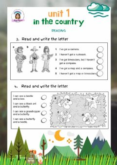 Interactive worksheet Explorers Level 3 Unit 1Reading: In the country