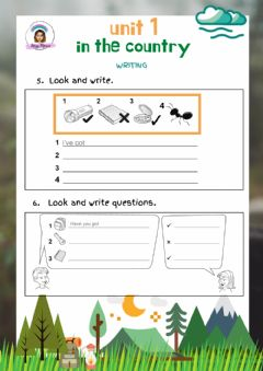 Interactive worksheet Explorers Level 3 Unit 1 Writing: In the country