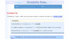 Interactive worksheet Divisibility Rules