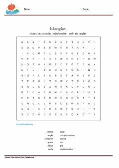 Interactive worksheet Angles - Sopa de lletres