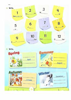 Interactive worksheet Months and days