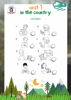 Interactive worksheet Explorers Level 3 Unit 1 Adapted Listening: In the country