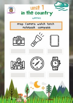 Interactive worksheet Explorers Level 3 Unit 1 Adapted Writing: In the country