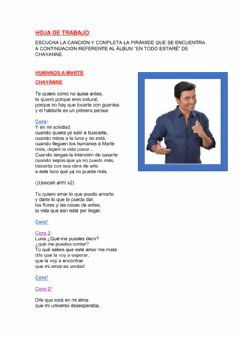 Interactive worksheet Humanos a Marte