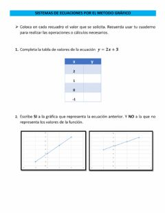 Interactive worksheet Metodo grafico