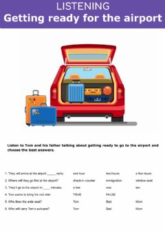 Interactive worksheet Vacation - Getting ready for the airport
