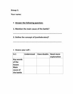 Interactive worksheet The battle of the confederates