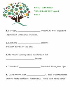 Interactive worksheet Education