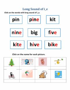 Interactive worksheet Long Sound of i-e