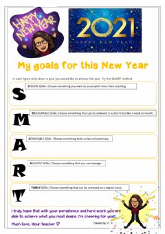 Interactive worksheet Goals for the New Year