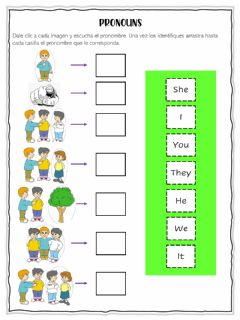 Interactive worksheet Subjects Pronouns