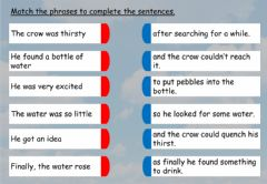 Interactive worksheet The thirsty crow