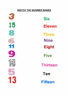 Interactive worksheet Number names