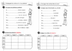 Interactive worksheet EXERCICES SUR LE PRESENT