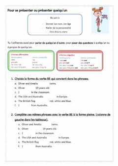 Interactive worksheet 6eme prl BE