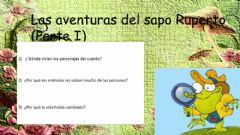 Interactive worksheet Ruperto y los bichitos de luz (Parte 1)