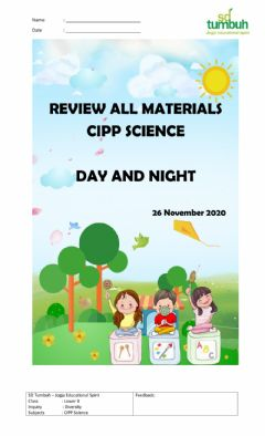 Interactive worksheet Review CIPP Science 2
