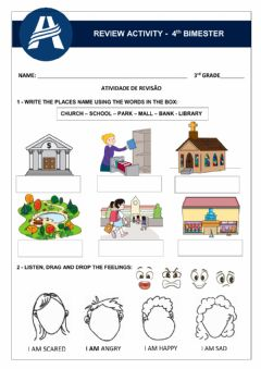 Interactive worksheet Review Activity - Unit 4 3rd Grade