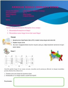 Interactive worksheet Lkpd konsep invers fungsi