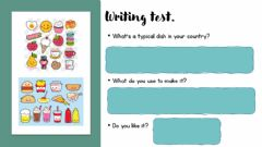 Ficha interactiva Writing-speaking-food