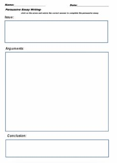 Interactive worksheet Persuasive Essay