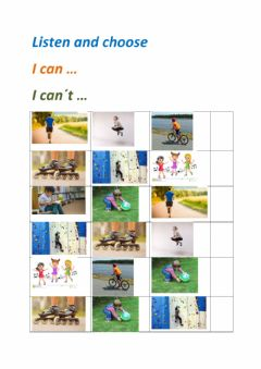 Interactive worksheet Let-s play