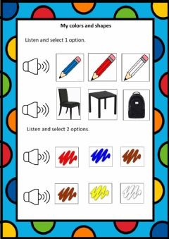 Interactive worksheet My colors