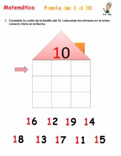 Interactive worksheet Familia del del 10 al 30