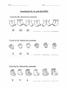 Interactive worksheet Counting by 2, 5, 10 Test