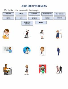 Interactive worksheet Professions and jobs