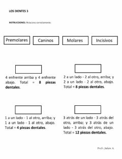 Interactive worksheet Los dientes 3