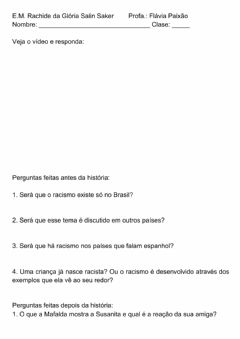 Interactive worksheet Racismo 6o ano