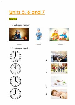 Interactive worksheet Units 5, 6 and 7