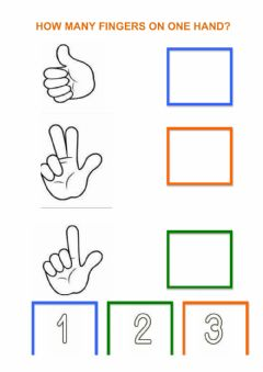 Interactive worksheet How many fingers