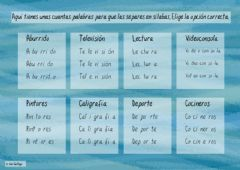 Interactive worksheet Separa sílabas - 2