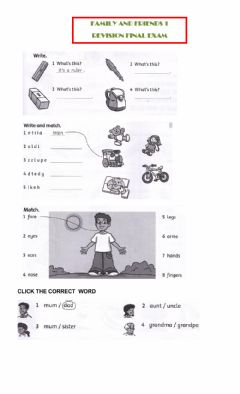 Interactive worksheet Family and friends 1 u1-8