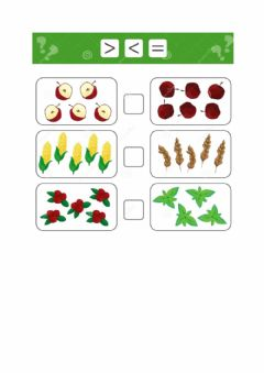 Interactive worksheet Maggiore, minore, uguale