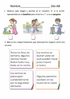 Interactive worksheet Deber de sociales