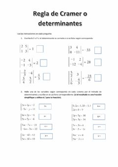 Interactive worksheet Regla de Cramer