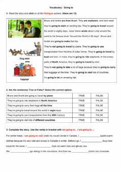 Interactive worksheet Vocabuary: Going To
