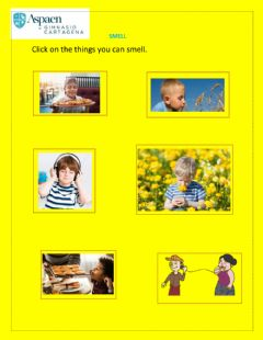 Interactive worksheet Smell