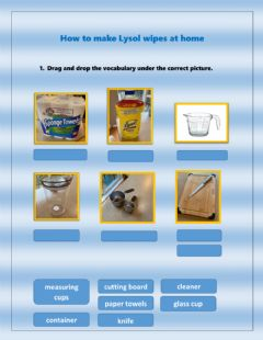 Interactive worksheet How to make Lysol wipes at home