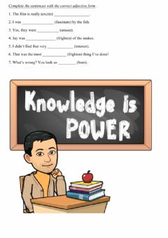 Interactive worksheet Ed-ing participles