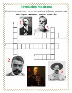 Interactive worksheet Revolución Mexicana